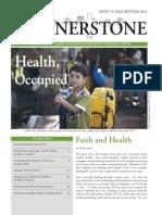 Cornerstone, Fall/Winter, 2014, Health & Occupation