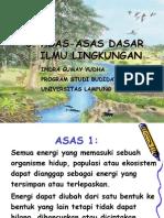 Ilmu Lingkungan Bab 3 Asas Dasar oleh Indra Gumay Yudha