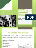 Exposición Sistemas Mecánicos, Tipos de Movimiento & Cadenas