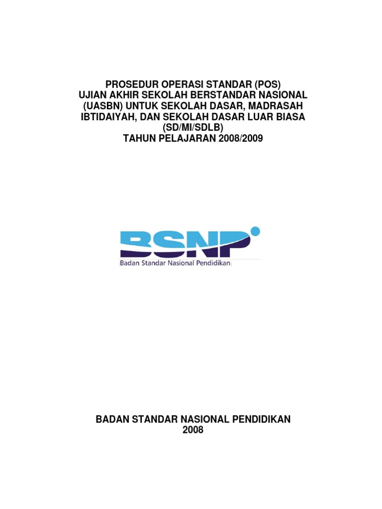 POS UASBN SD/MI/SDLB