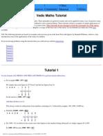 Vedic Maths Tutorial (Interactive)