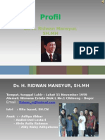 Profil Ridwan Mansyur Agustus 2010