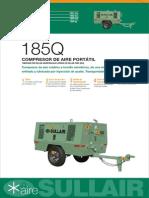 Ficha Técnica Compresor de Aire Sullair 185Q