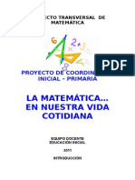 Ed. Inicial Proyecto Matematica
