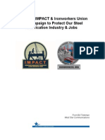 Campaign June 2015Report to IMPACT & Ironworkers Union   on Campaign to Protect Our Steel   Fabrication Industry & Jobs