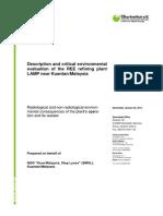 Lynas Risk Assessment on Rare Earth Plant