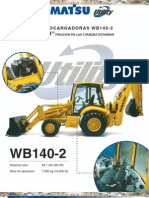 catalogo Retroexcavadoras Wb140!2!4wd Komatsu