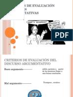Criterios de Evaluación y Falacias