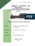 Materiales  Y PROCEDIMIENTOS DE CONSTRUCCION - METRADO