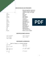 Formulas Calculo