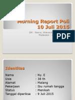 Morning Report Neuro 10 Juli 2015