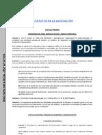 Estatutos de La Asociacion SOSInfancia,Reformados Oct2008