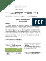 Quimica Organica, Reporte 2