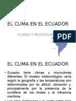 El Clima en El Ecuador