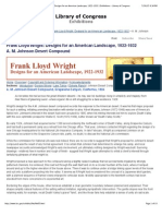 A. M. Johnson Desert Compound - Frank Lloyd Wright