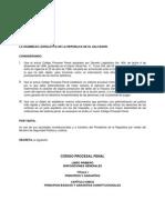 Cdigo Procesal Penal Nuevo (El Salvador)