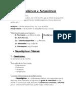 Neurolepticos y Antipsicoticos