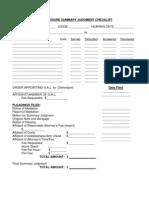 Judges Foreclosure Summary Judgment Checklist
