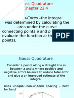 Gauss Quadrature