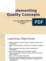 Implementing Quality Concepts