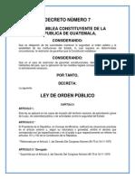 Ley de Orden Público Guatemala 1965