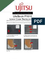 Fujitsu P1610 Lower Case