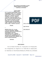 Word Music, LLC et al v. Priddis Music, Inc. et al - Document No. 74