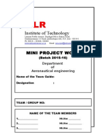 Project Work File Format 2015-16