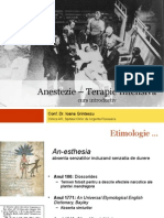 Istoria Anesteziei