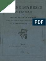 Oeuvres diverses en français et en patois dont les sujets sont pris dans Vauvert / par J. Meizonnet, dit Parisien