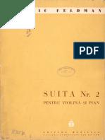 Feldman Ludovic - Suita Nr.2 Pentru Vioara Si Pian_Vln, P