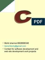 C Language Presentation=Mohit Sharma,Udaipur