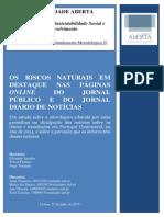As cheias nos jornais online Público e Diário de Notícias em 2014