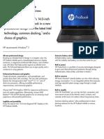 HP ProBook 6460b Notebook PC Datasheet