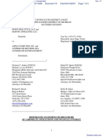 Eight Mile Style, LLC et al v. Apple Computer, Incorporated - Document No. 10