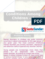 Mental Health Conditions Among Children – A Growing Problem