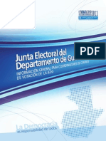 Información General Coordinadores de Centros de Votación 2011, JEDG - JEM, TSE Guatemala