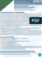 Folleto Coordinadores Centros de Votación, Diversos Aspectos - JEDC, TSE Guatemala