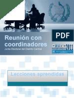 Junta Electoral Del Distrito Central, TSE Guatemala - Presentación Final, 8 de Octubre