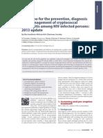 HIV Clinicians Society Cryptococcal 2013