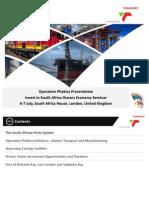 Transnet Operation Phakisa Invest in SA Seminar