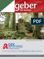 Ratgeber aus Ihrer City-Apotheke – August 2015