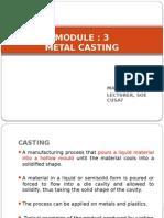 Module-3 Metal Casting