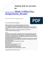 ACC 291 Week 4 Wiley Plus Assignments_Answer