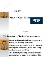 TM 420 Lecture 10 Cost Management