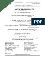 Joint Brief of FCC Net Neutrality Plaintiffs