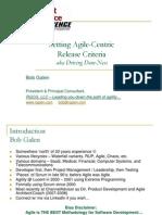 Agile Release Criteria