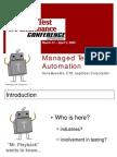Delivering Test Automation Success