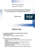 End to End Performance Process