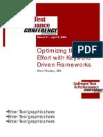 Optimizing the Test Effort With Keyword-Driven Frameworks